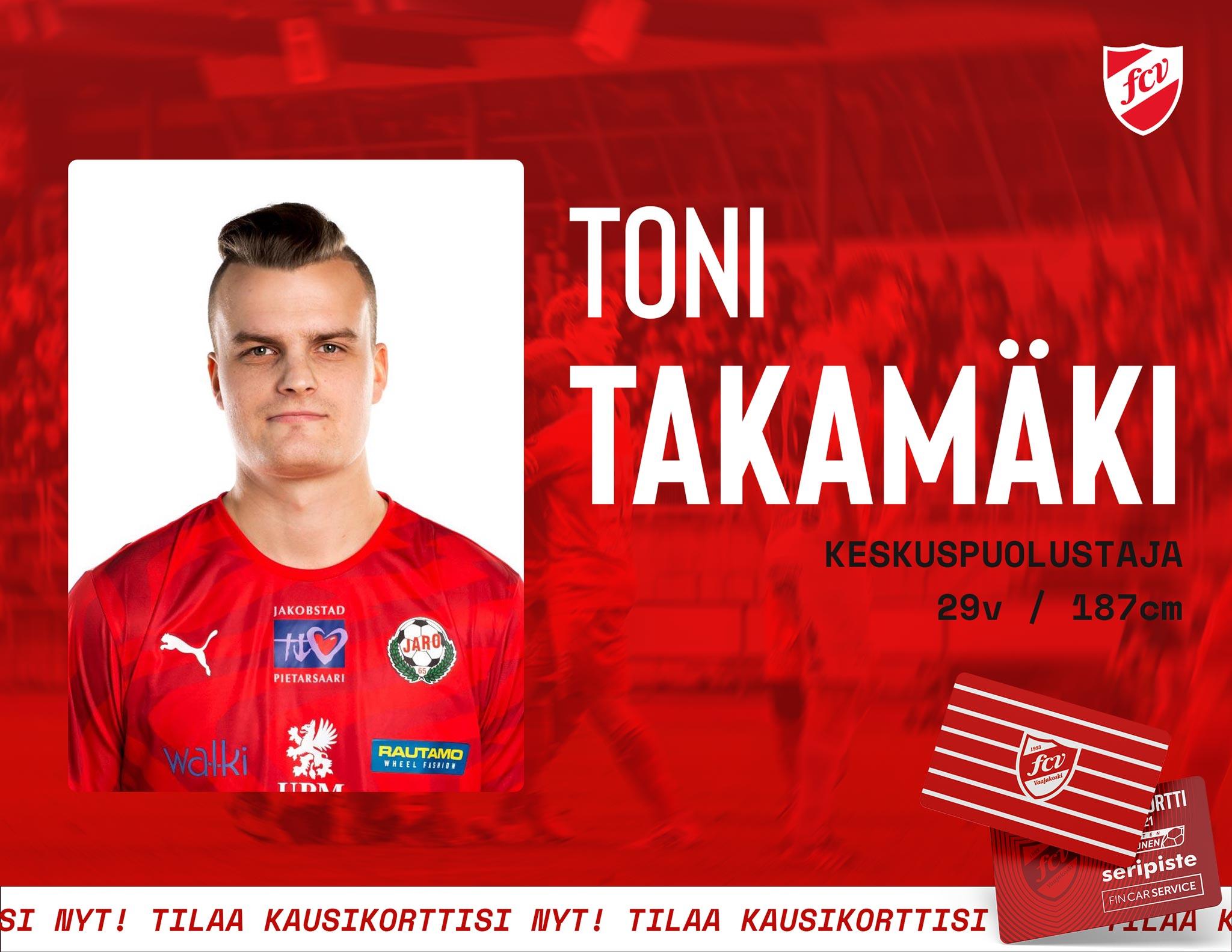 Toni Takamäki Vaajakoskelle
