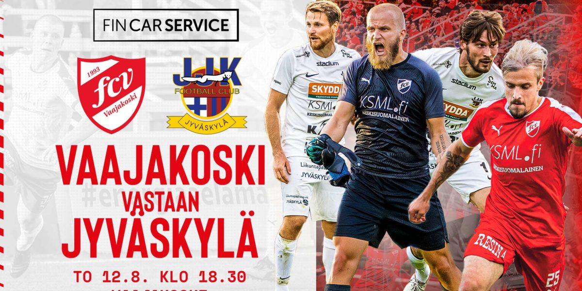 FC Vaajakoski vs JJK to 12.8. — Tietoa ottelutapahtumasta
