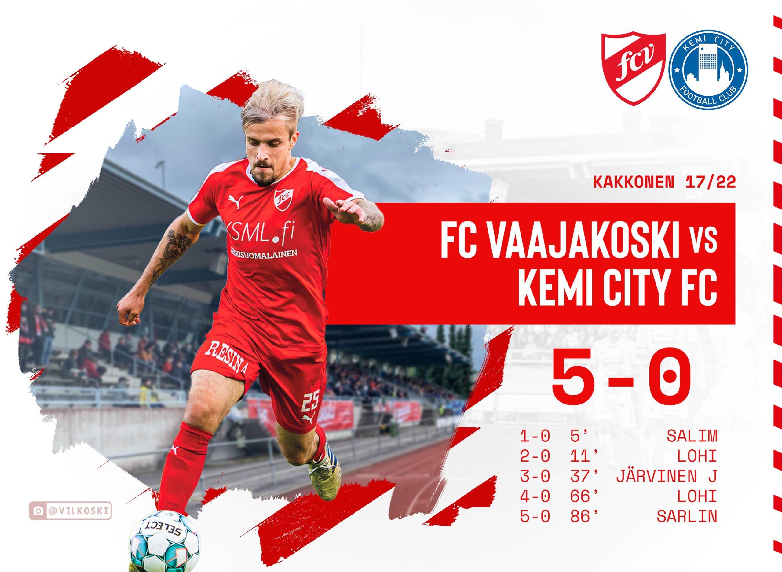 FC Vaajakoski kaatoi Kemin 5-0