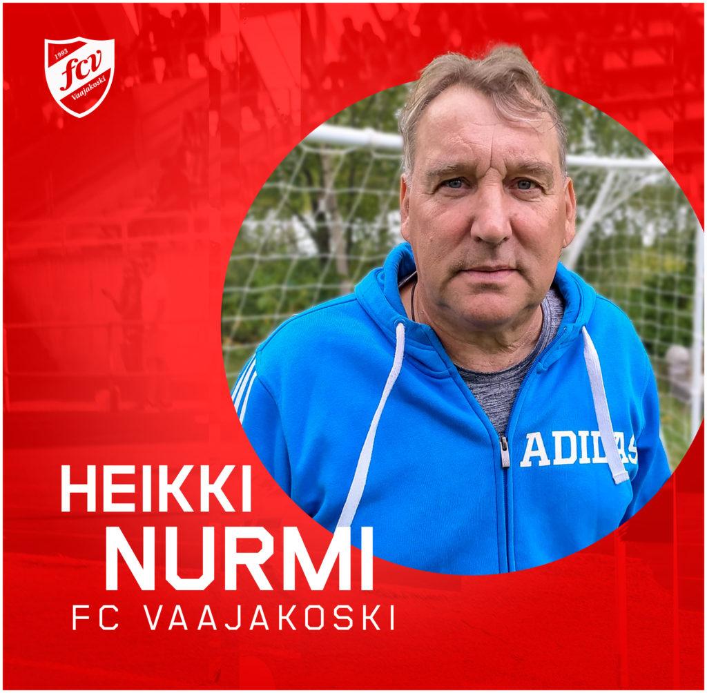 Heikki Nurmi FC Vaajakosken A-junioreiden päävalmentajaksi